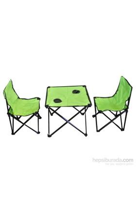 Andoutdoor 2 Sandalye 1 Masa Çantalı Set Yeşil AND200
