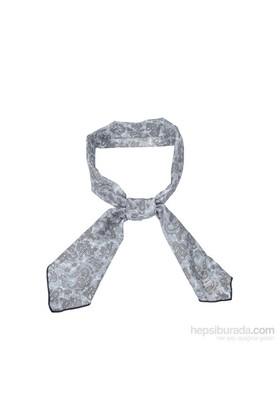 Cool Tie - Desenli Şal Gri Beyaz