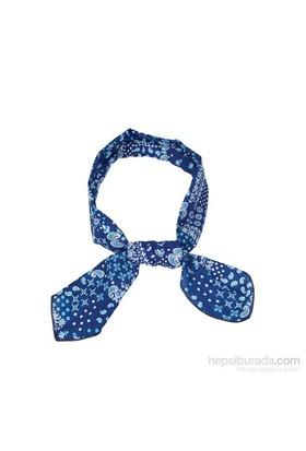 Cool Tie - Desenli Şal Lacivert Mavi Beyaz