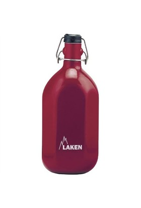 Laken Alüminyum Octogonal şişe 1L Kırmızı LK93-R