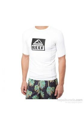 Reef Logo Rash Guard 4 Tshirt RE050BLU