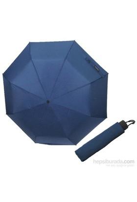 Zeus&Co. Lacivert Manuel Rüzgarda Kırılmayan Şemsiye