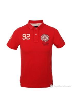 Tommy Hilfiger Erkek Polo Yaka T-Shirt Kırmızı