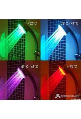 Isıya Göre 4 Renk Değiştiren Duş Başlığı