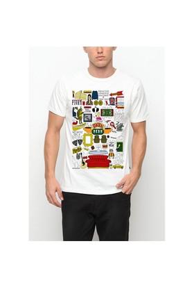 Köstebek F.R.I.E.N.D.S. -Central Perk Et636 Erkek T-Shirt