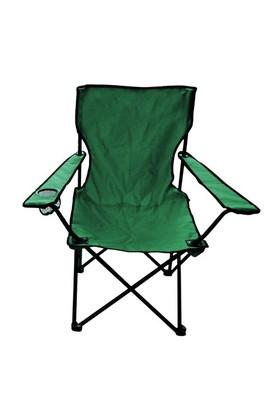 Yeşil Katlanabilir Katlanır Kamp Sandalyesi Çantalı