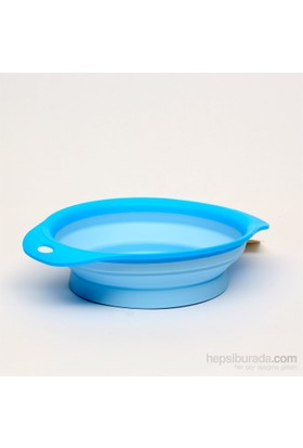 Flip Esnek Mama Kabı Küçük Mavi
