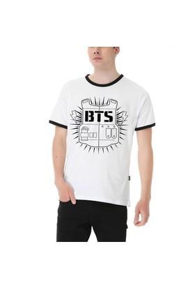 Köstebek Bts Erkek T-Shirt Et711 Beyaz
