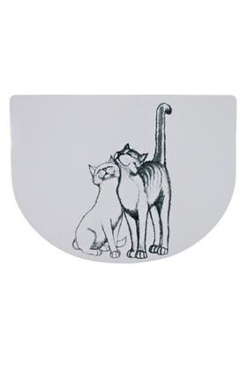 Pussy Cat - Kedi Mama Servisi, 40×30 Cm, Yarım Daire