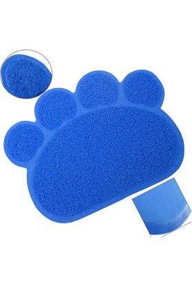 Catmat Pati Desenli Kedi Paspası Mavi 60X45 Cm