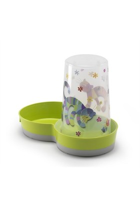 Moderna Hazneli Kedi Plastik Mama Kabı 1.5 Lt