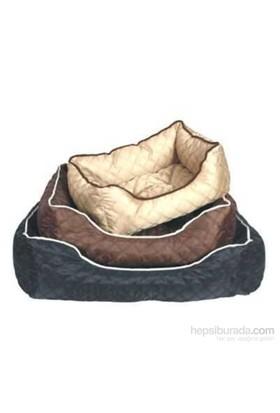 Ranna Lux Dikdörtgen Köpek Yatağı Kahve M - 75 x 58 x 19 cm