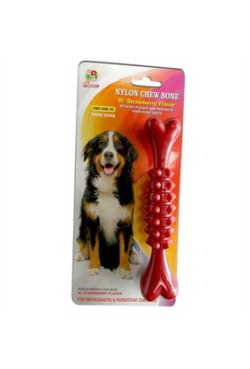 Köpek İçin Naylon Sert Kemik Çilek Aromalı Hbn06brs