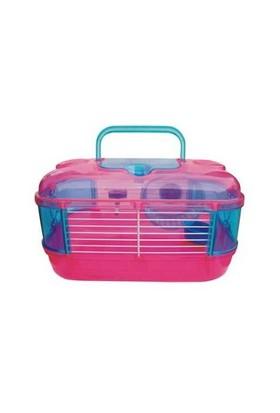 Hamster Kafesi Plastik Çarklı Küçük 33 Cm X 21 Cm X 18 Cm