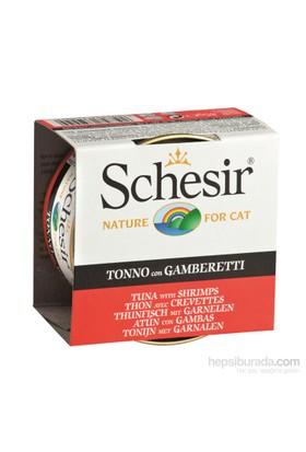 Schesir Cat Jelly Ton Balıklı Ve Karidesli Kedi Konservesi 85 Gr