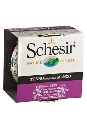 Schesir Cat Jelly Ton Balıklı Ve Sığır Etli Kedi Konservesi 85 Gr