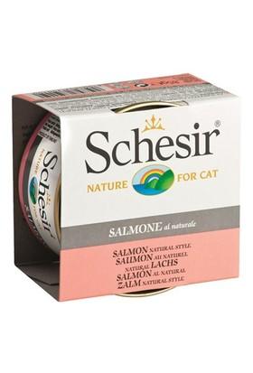 Schesir Cat Naturel Brine 85 Gr - Somonlu Kedi Konservesi