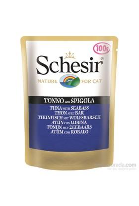 Schesir Cat Pouch - Ton Balıklı Ve Levrekli 100 Gr