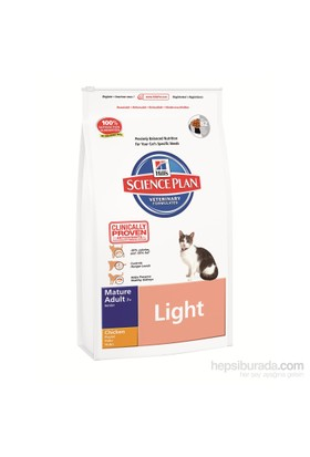 Hill's Science Plan Light Tavuklu Yaşlı Kedi Maması 1,5 Kg (Mature Adult 7 + Light with Chicken)