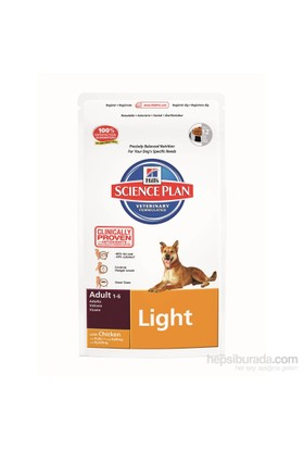 Hill's Science Plan Light Yetişkin Köpek Maması 3 Kg (Adult Light with Chicken)