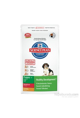 Hill's Science Plan Tavuklu Orta Irk Yavru Köpek Maması 12 Kg (Puppy Healthy Development Medium with Chicken) fd