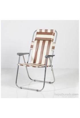 Muhtelif Vural Yastıklı Kamp Piknik Sandalyesi Katlanır -Hs07