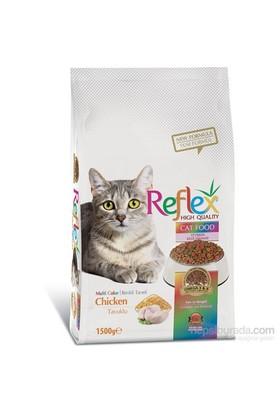Reflex Cat Multi Colour Tavuklu Renkli Taneli Yetişkin Kedi Maması 1,5 Kg