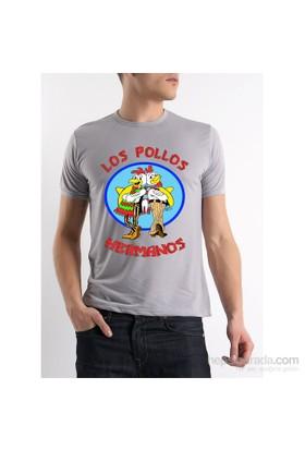 Köstebek Breaking Bad Los Pollos Hermanos Erkek T-Shirt