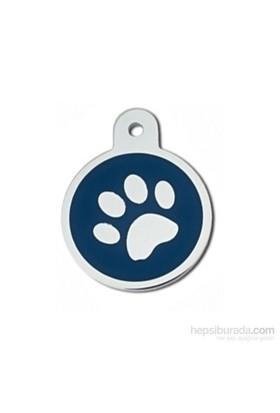 Quick Tag Kedi Ve Köpek İsimlik, Madalyon, Epoxy Krom, Mavi