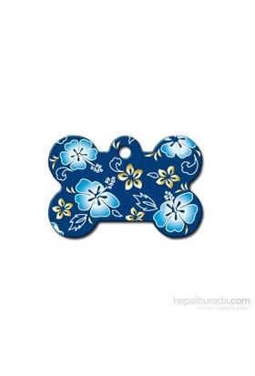 Quick Tag Köpek İsimlik, Kemik, Hawai Mavi, Büyük