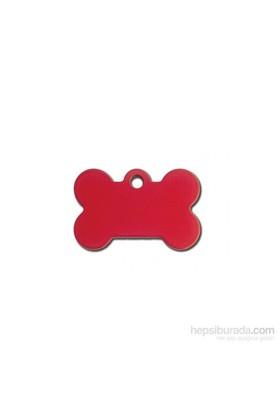 Quick Tag Köpek İsimlik, Kemik, Kırmızı, Küçük