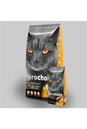 Prochoice Pro 32 Tavuk Ve Pirinçli Kısırlaştırılmış Kedi Kuru Mama 15Kg