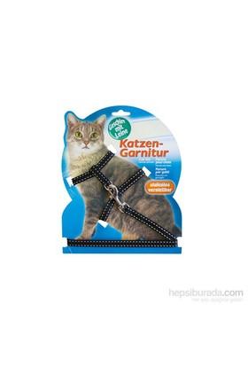 Katzen Kedi Göğüs Tasması Reflektörlü Siyah