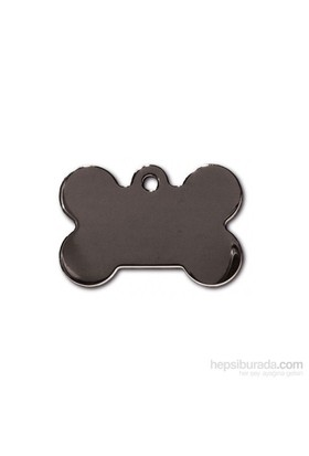 Quick Tag Köpek İsimlik, Kemik, Titanium Siyah, Büyük