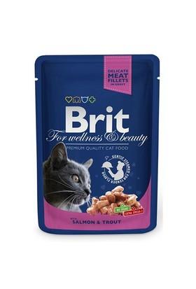 Brit Premium Somon&Alabalıklı Pouch Kedi Maması 100 Gr