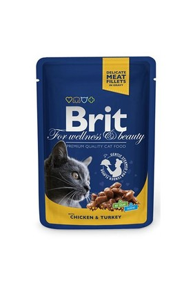 Brit Premium Tavuk&Hindili Pouch Kedi Maması 100 Gr