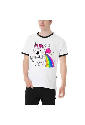 Köstebek Unicorn Pooph Erkek T-Shirt Et723 Beyaz
