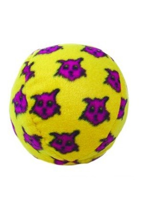 Tuffy Mighty Balls Sarı Desenli Top Köpek Oyuncağı 10 Cm