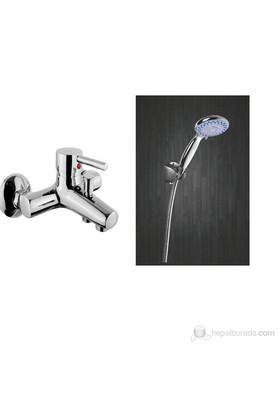 Diamond Minimal Banyo Bataryası + Mafsallı Duş Takımı