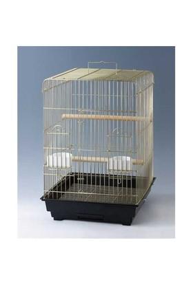 Qh Pet Cage Papağan Kafesi Pirinç Kaplama (46.5 X 46.5 X 68)
