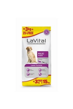La Vital Maxi Adult Lamb Kuzulu Büyük Irk Yetişkin Köpek Maması 12+3 Kg