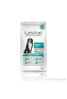 La Vital Dog Maxi Adult Salmon Büyük Irk Somonlu Yetişkin Köpek Maması 12 Kg