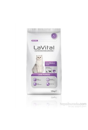 La Vital Cat Adult Hairball Lamb Yetişkin Kedi Maması 1,5 Kg
