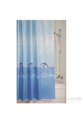 Doğuş Banyo Polyester Banyo Perdesi İkili-Yunuslar