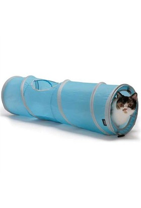 Sport Pet Designs Pop Open Kiity Tunnel Kedi Oyun Tüneli Mavi