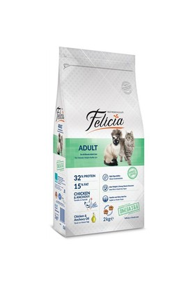 Felicia Tavuklu-Hamsili Yetişkin Kedi Maması2 kg