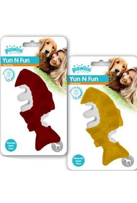 Pawise Yum N Fun Balık Aromalı Çiğneme Köpek Oyuncağı 12,5 Cm