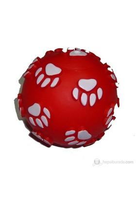MTK Pati Desenli Kırmızı Köpek Oyuncağı 13 Cm