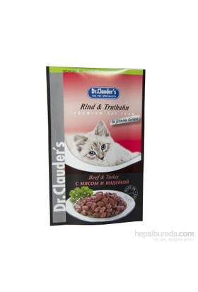 Dr. Clauder'S Kedi Biftek & Hindi Pouch 100 Gr