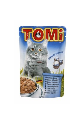 Tomi Somonlu Ve Alabalıklı Kedi Konservesi 100 Gr